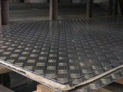 Алюминиевый лист рифленый квинтет 1мм 1х1х2м 1х1,25х2,5м 1,5х3