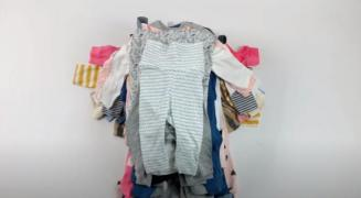 Лот 01-0637, Дитячий мікс, бейбіки H&M, вага 5 кг