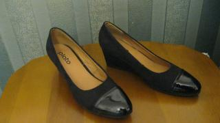 New comfortable stylish suede lacquered black shoes