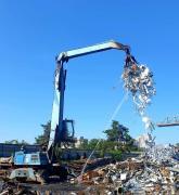 Reception of scrap metal