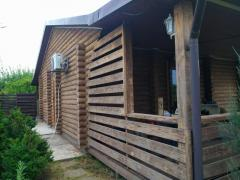 Repair and restoration of wooden houses and baths, from a log house